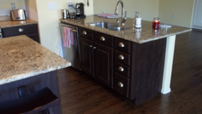 Chocolate Pear Cabinets