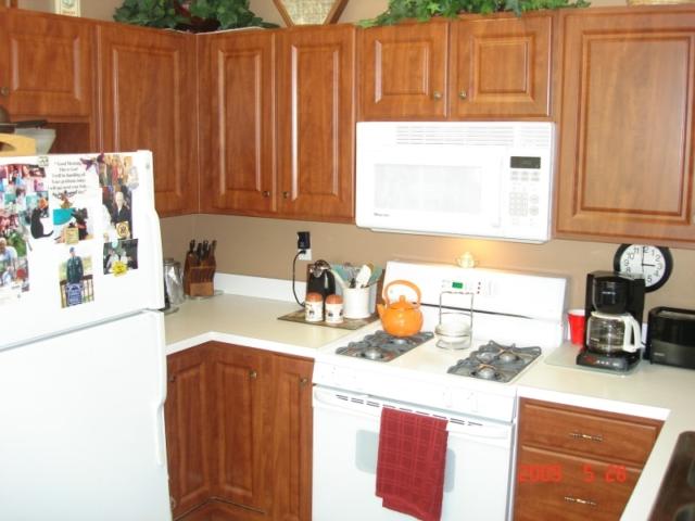 Dark Cherry Thermofoil Cabinets